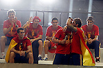 02.07.2012. Sergio Ramos and Pepe Reina during Tour of Madrid of the Spanish football team to celebrate their victory in Euro 2012 july 2012.(ALTERPHOTOS/ARNEDO)