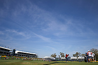 14th March 2021; Ponte Vedra Beach, Florida, USA;  Adam Scott of Australia plays a tee shot on the 17th hole during the final round of THE PLAYERS Championship on March 14, 2021 at TPC Sawgrass Stadium Course in Ponte Vedra Beach, Fl.