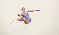 11 AUG 2012 - LONDON, GBR - Yeon-Jae Son (KOR) of South Korea performs her hoop routine during the 2012 London Olympic Games Individual All-Around Rhythmic Gymnastics final at Wembley Arena in London, Great Britain (PHOTO (C) 2012 NIGEL FARROW)