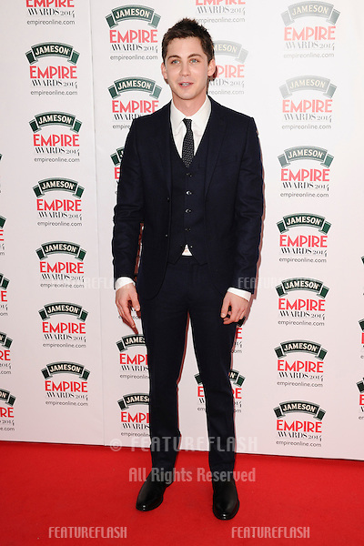 Laurie Calvert<br /> arives for the Empire Magazine Film Awards 2014 at the Grosvenor House Hotel, London. 30/03/2014 Picture by: Steve Vas / Featureflash