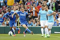 Mikel (12), Yossi Benayoun (30) Chelsea, Carlos Tevez (32) Pablo Zabaletta (5) Manchester City..Manchester City defeated Chelsea 4-3 in an international friendly at Busch Stadium, St Louis, Missouri.