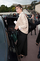 October 2 2017, PARIS FRANCE<br /> the HermËs Show at the Paris Fashion Week<br /> Spring Summer 2017/2018. Actress Julie Gayet leaves the show.