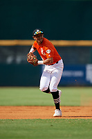 Ryan Oniel Cepero Roman (5) of Carlos Beltran Baseball Academy in Arecibo, PR during the Perfect Game National Showcase at Hoover Metropolitan Stadium on June 18, 2020 in Hoover, Alabama. (Mike Janes/Four Seam Images)