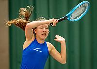Wateringen, The Netherlands, December 8,  2019, De Rhijenhof , NOJK juniors 14 and18 years, Finals girls 14 years: Isis van den Broek (NED)<br /> Photo: www.tennisimages.com/Henk Koster