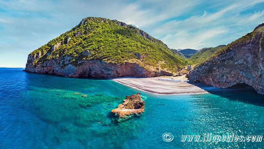 The beach Petali in Evia island, Greece