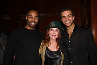 General Hospital's Jacklyn Zeman poses with Jelani Remy and Blaine Krauss (starred in Kinky Boots and now stars in The Cher Show at The Neil Simon Theatre on Broadway) who received The Shining Star Award - The 31st Annual Jane Elissa Entertainment Extravaganza to benefit Leukemia, Cancer Research and Broadway Cares Equity Fights Aids on November 5, 2018 at the New York Marriott Marquis, New York City, New York.  (Photo by Sue Coflin/Max Photos)