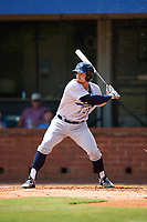 Pensacola Blue Wahoos center fielder Brian O'Grady (21) at bat during a game against the Mobile BayBears on April 26, 2017 at Hank Aaron Stadium in Mobile, Alabama.  Pensacola defeated Mobile 5-3.  (Mike Janes/Four Seam Images)