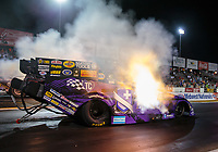 Sep 21, 2018; Madison, IL, USA; NHRA funny car driver Jack Beckman during qualifying for the Midwest Nationals at Gateway Motorsports Park. Mandatory Credit: Mark J. Rebilas-USA TODAY Sports