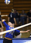 Erin Allison goes up for a kill for the Marymount University Saints during first round action at the 6th annual Worthington Classic at Gallaudet University in Washington, D.C., on Friday, Sept. 28, 2012. .Photo by Cathleen Allison
