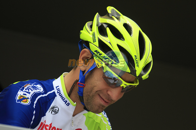 Vincenzo Nibali (ITA) Liquigas-Cannondale at sign on before the start of Stage 2 of the 99th edition of the Tour de France 2012, running 207.5km from Vise to Tournai, Belgium. 2nd July 2012.<br /> (Photo by Eoin Clarke/NEWSFILE)