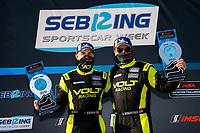 #7 VOLT Racing with Archangel Ligier JS P320, P3-1: Trent Hindman, Alan Brynjolfsson <br /> Winners, Victory Lane