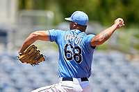 FCL Rays pitcher Sandy Gaston (68) during a game against the FCL Twins on July 20, 2021 at Charlotte Sports Park in Port Charlotte, Florida.  (Mike Janes/Four Seam Images)