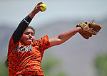 Kali Sargent and the Douglas Tigers battle the Galena Grizzlies in a first round game of the NIAA northern region softball tournament in Reno, Nev., on Thursday, May 15, 2014. Galena won 5-4.<br /> Photo by Cathleen Allison