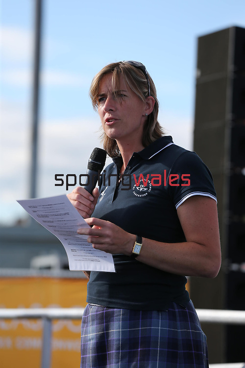 Glasgow 2014 Commonwealth Games<br /> Flag raising ceremony to welcomes Team Wales to the athletes village.<br /> Kath Grainger<br /> 21.07.14<br /> ©Steve Pope-SPORTINGWALES