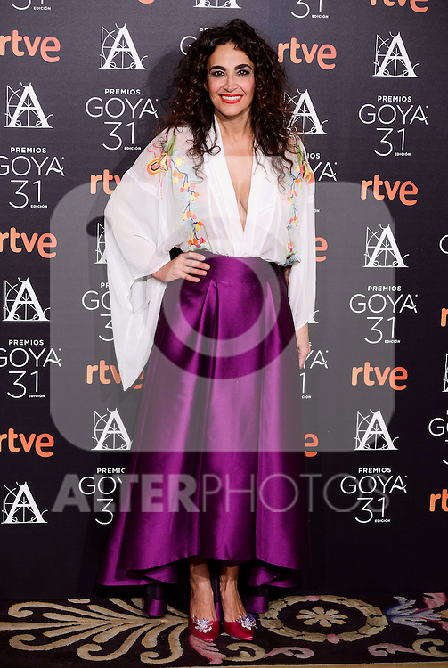 Cristina Rodriguez attends to the 2017 Goya Awards Candidates Cocktail at Ritz Hotel in Madrid, Spain. January 12, 2017. (ALTERPHOTOS/BorjaB.Hojas)