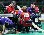 Bruno Garneau, Rio 2016 - Boccia. <br /> Bruno Garneau competes in the mixed boccia event against Korea // Bruno Garneau participe à l'épreuve de boccia mixte contre la Corée. 09/09/2016.
