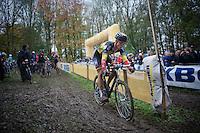 Belgian Champion Sven Nys (BEL/Crelan-AAdrinks) leaving the pits<br /> <br /> Superprestige Gavere 2014