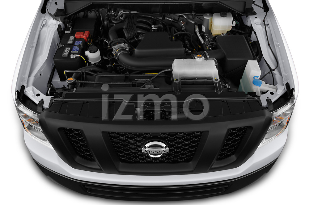 Car Stock 2020 Nissan NV-Passenger S 4 Door Passenger Van Engine  high angle detail view