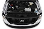 Car Stock 2020 Nissan NV-Passenger S 4 Door Passenger Van Engine  high angle detail view