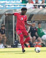 CHARLOTTE, NC - JUNE 23: Jorge Kindelan #19 passes the ball during a game between Cuba and Canada at Bank of America Stadium on June 23, 2019 in Charlotte, North Carolina.