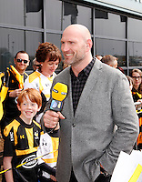 Photo: Richard Lane/Richard Lane Photography. Wasps v Exeter Chiefs.  European Rugby Champions Cup Quarter Final. 09/04/2016. Lawrence Dallaglio presents for BT Sport.