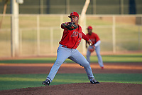 AZL Angels relief pitcher Kelvin Moncion (76) during an Arizona League game against the AZL Giants Black at the Giants Baseball Complex on June 21, 2019 in Scottsdale, Arizona. AZL Angels defeated AZL Giants Black 6-3. (Zachary Lucy/Four Seam Images)