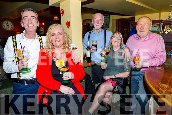 Enjoying the Braces and Garters Fun Night in Betty's Bar on Friday night were Jeffrey and Anita Horan, and Eugene and Doreen Murphy with Sean Fuller.