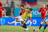 Spain's David Jimenez Silva (l) and Colombia's Radamel Falcao during international friendly match. June 7,2017.(ALTERPHOTOS/Acero) (NortePhoto.com) (NortePhoto.com)