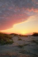 Sunrise over the Atlantic Ocean<br /> Ocracoke Island<br /> Cape Hatteras National Seashore<br /> Outer Banks,  North Carolina