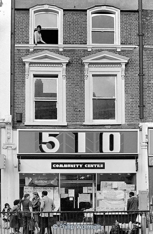 The 510 Community Centre, Harrow Road; April 1980.