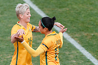 June 4, 2016: Michelle Heyman is substituted off during an international friendly match between the Australian Matildas and the New Zealand Football Ferns as part of the teams' preparation for the Rio Olympic Games at Morshead Park in Ballarat. Photo Sydney Low