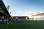Ayr win a corner. Kilmarnock 2 Ayr United 0, Scottish Championship, August 2nd 2021. Following Kilmarnock's relegation in 2020-21, the first game of the new season is the Ayreshire Derby, the first league match between the teams in 28 years. Due to relaxation of Covid restrictions the match was played in front of a crowd of 3200 Kilmarnock fans. The game was shown live on BBC Scotland.