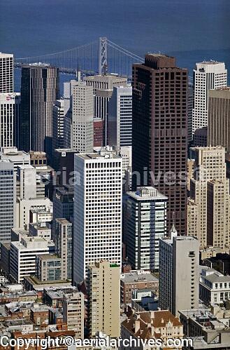 aerial photograph Bank of America Center 101 California Hartford Building San Francisco
