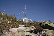 Franconia Notch State Park - Tower from the Rim Trail on the summit of Cannon Mountain in the White Mountains, New Hampshire USA