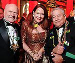 From left:  Joe Amberson, Barbara Van Postman and Rudy Avelar at the Mardi Gras Ball at the Tremont House in Galveston Saturday Feb. 13,2010.(Dave Rossman Photo)