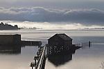 Garibaldi, Tillamook Bay, Oregon coast, Tillamook County, Oregon, Pacific Northwest, North America, canneries, docks, fishing town, morning light,