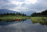 Canoeing in Kidney Pond, Baxter State Park, Maine