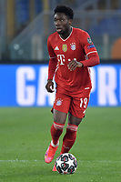 Alphonso Davies of FC Bayern Munchen in action during the Champions League round of 16 football match between SS Lazio and Bayern Munchen at stadio Olimpico in Rome (Italy), February, 23th, 2021. Photo Andrea Staccioli / Insidefoto