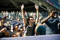 BRONX, NY - Saturday August 20, 2016: New York City FC defeats the Los Angeles Galaxy 1-0 at home at Yankee Stadium in regular season MLS play.