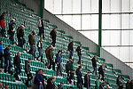 Hibernian 3 Alloa Athletic 0, 12/09/2015. Easter Road stadium, Scottish Championship. Home supporters making their way from the East Stand at Easter Road stadium at the conclusion of the Scottish Championship match between Hibernian and visitors Alloa Athletic. The home team won the game by 3-0, watched by a crowd of 7,774. It was the Edinburgh club's second season in the second tier of Scottish football following their relegation from the Premiership in 2013-14. Photo by Colin McPherson.