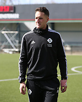 Head coach Jimmy Coenraets of OHL pictured before a female soccer game between Oud Heverlee Leuven and Club Brugge YLA on the 18 th and last matchday before the play offs of the 2020 - 2021 season of Belgian Womens Super League , saturday 27 th of March 2021  in Heverlee , Belgium . PHOTO SPORTPIX.BE | SPP | SEVIL OKTEM
