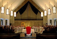 Priest celebrating mass.