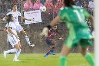 EAST HARTFORD, CT - JULY 1: Crystal Dunn #2 of the United States crosses the ball during a game between Mexico and USWNT at Rentschler Field on July 1, 2021 in East Hartford, Connecticut.