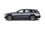 Car Driver side profile view of a 2017 Mercedes Benz E-Class All-Terrain 5 Door Wagon Side View