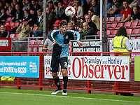 Joe Jacobson of Wycombe Wanderers during the Sky Bet League 2 match between Crawley Town and Wycombe Wanderers at Checkatrade.com Stadium, Crawley, England on 29 August 2015. Photo by Liam McAvoy.