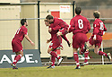 20040327     Copyright Pic : James Stewart.File Name : jspa12_clyde_v_stmirren.ALAN RUSSELL (15) IS CONGRATULATED AFTER SCORING ST MIRREN'S SECOND.....James Stewart Photo Agency 19 Carronlea Drive, Falkirk. FK2 8DN      Vat Reg No. 607 6932 25.Office     : +44 (0)1324 570906     .Mobile  : +44 (0)7721 416997.Fax         :  +44 (0)1324 570906.E-mail  :  jim@jspa.co.uk.If you require further information then contact Jim Stewart on any of the numbers above.........