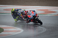ANDREA DOVIZIOSO - ITALIAN - DUCATI TEAM - DUCATI<br /> VALENTINO ROSSI - ITALIAN - MOVISTAR YAMAHA MotoGP - YAMAHA <br /> Valencia 18-11-2018 <br /> Moto Gp Spagna<br /> Foto Vincent Guignet / Panoramic / Insidefoto