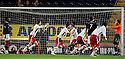 ROSS COUNTY PLAYERS CELEBRATE AFTER THE LATE EQUALISER