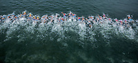 07 JUL 2012 - PARIS, FRA - The elite women's French Grand Prix round swim gets underway during the 2012 Triathlon de Paris which was held around Pont d'Lena, Paris, France .(PHOTO (C) 2012 NIGEL FARROW)