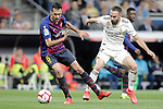 Real Madrid CF's Daniel Carvajal and FC Barcelona's Sergio Busquets during La Liga match. March 02,2019. (ALTERPHOTOS/Alconada)